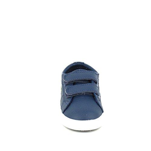 LACOSTE - Lacoste Marcel LCR, basket taille basse bébé - 2002006544630-G Bleu Foncé
