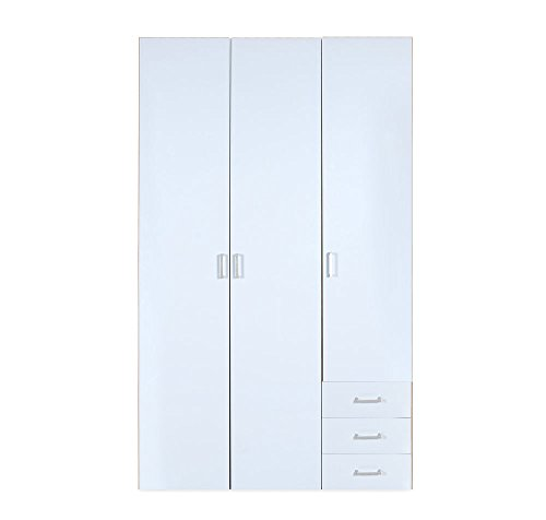 @home by Nilkamal Masters 3-Door Wardrobe (Glossy Finish, Brown and White)  available at amazon for Rs.16900