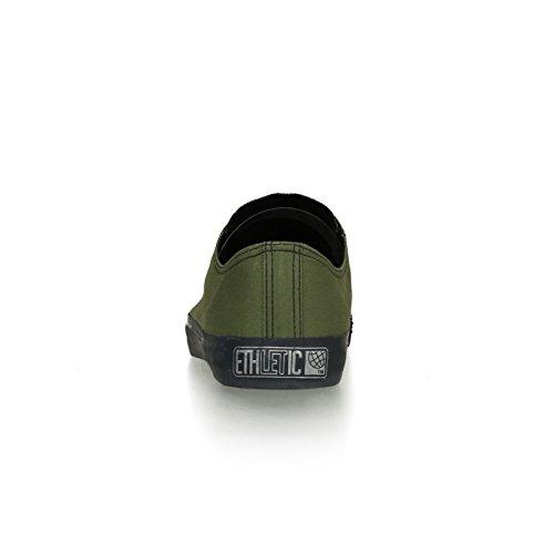 Ethletic Black Cap vegan LoCut - Farbe camping green / black aus Bio-Baumwolle Größe 42 - 4