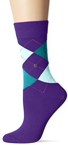 Burlington Damen Queen Socken, Mehrfarbig (Violett 8300), 36/41 (Herstellergröße: 36-41)