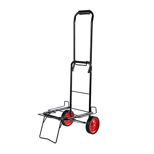 Einkaufstrolleys Kreative Tragbare Falten Einkaufswagen Gepäckwagen Kleinen Anhänger Haushaltswagen zu Kaufen Lebensmittel Kleinen Wagen (Größe : M)