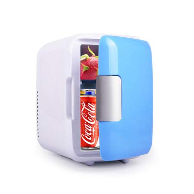 Biuday Mini-Frigorífico Mini Nevera Electrica 4 Litros Portatil Minibar, Ideal para Coche,...