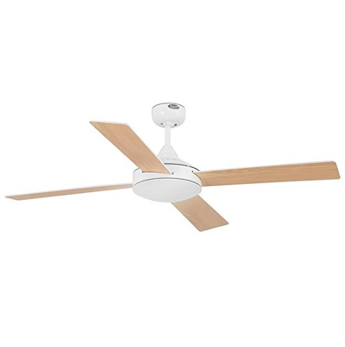 Faro Barcelona Mallorca 33350 – Ceiling Fan Without Light, Steel with Plywood Blades Colour: White