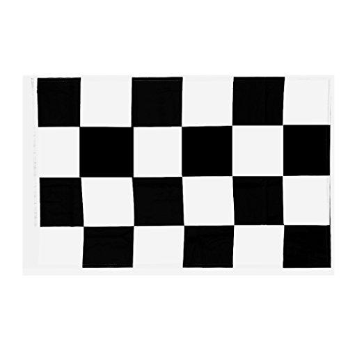 (non-brand Sharplace Flagge Zielflagge Schwarz Weiß 2 Size Auswahl - 60*90cm)