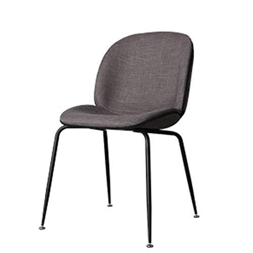 L.BAN Lounge-Sessel Gepolsterter Stuhl Accent Stühle Baumwollleinengewebe Sitz Essensstuhl, Metallbeine -