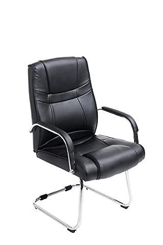 Chaise pour visiteur Attila Noir