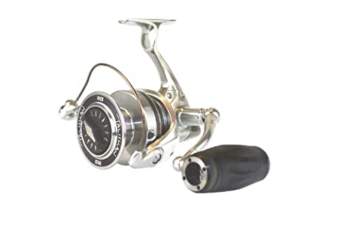 TICA TG Talisman Spinning Reels with 14 Ball Bearings, Silver, 12-Pound/145-Yard