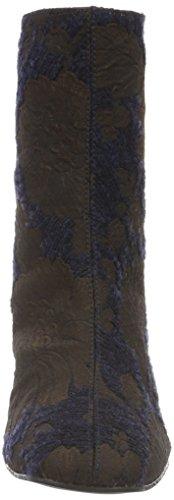 Paco Gil P3085, Bottines à doublure froide femme Bleu - Blau (Marine/MOKA)