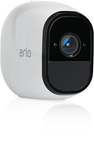 Arlo Pro VMS4430 Wireless Home Security Camera System with Siren, Rechargeable, Night Vision, Indoor/Outdoor, HD Video, 2-Way Audio, Wall Mount, Cloud Storage Included, 4 Camera Kit