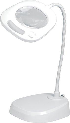 Purelite LED Tisch-Lupenleuchte Tageslicht// dimmbar// Lupe 3+5-fache Vergrößerun