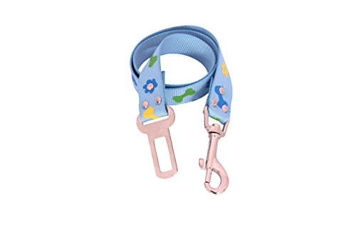 SRI Imported High Quality Pet Dog Seat Belt (BLUE PRINTED)