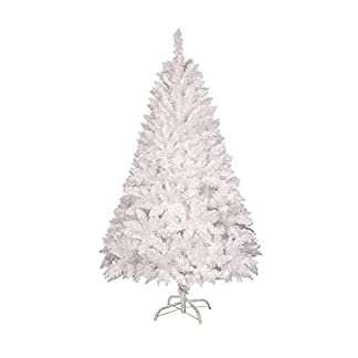 Hanselhome Árbol de Navidad Artificial Alta Densidad con Base Metálica Material PVC Decoración Navideña 120 cm – 240 cm (PVC Nieve con Pino, 120 cm/270 Puntas)
