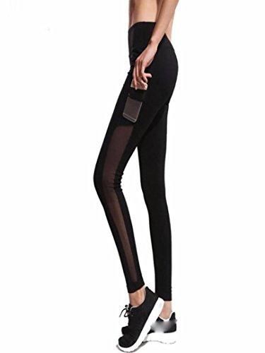 Btruely Herren Leggings Yoga Mujer Mallas Deportes Mujer Leggins Gimnasio Yoga Pantalone Elásticos Malla Fitness Leggings para Running Deportes Pantalones Deportivos Mujer (L, Negro)