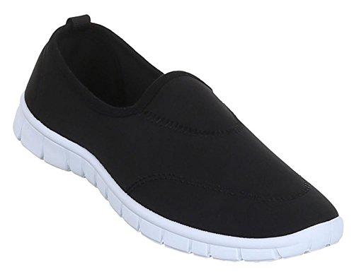 Damen Schuhe Halbschuhe Slipper Freizeitschuh Schwarz