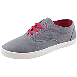 Globalite Women's Casual Shoes Sharp Grey Pink GSC1128 UK/IN 7