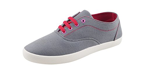 Globalite Women's Casual Shoes Sharp Grey Pink GSC1128 UK/IN 4