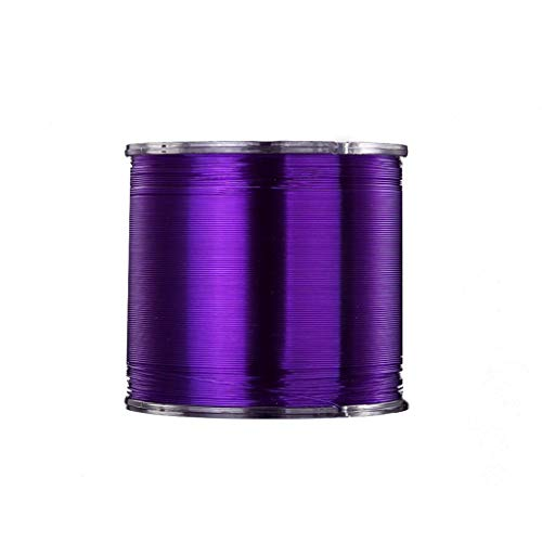 CAIM-Geflochtene Schnüre Angelschnur Nylonschnur Super Sea Fishing Line 500M Rolle Monofilament Line Angelschnur See Marine Angelschnur (Color : Purple, Größe : 4#)