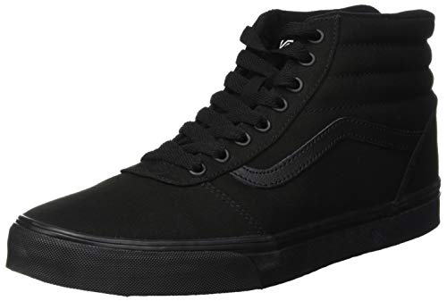 Vans ward hi canvas sneaker a collo alto uomo, nero (black 186), 43 eu
