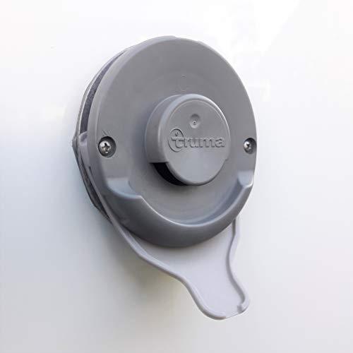 Manufaktur3D Wohnmobil Caravan Kondenswasserablauf Kaminschild Ablauf für Deckel Kamindeckel Kaminabdeckung Abgaskamin Truma Heizung (Grau)
