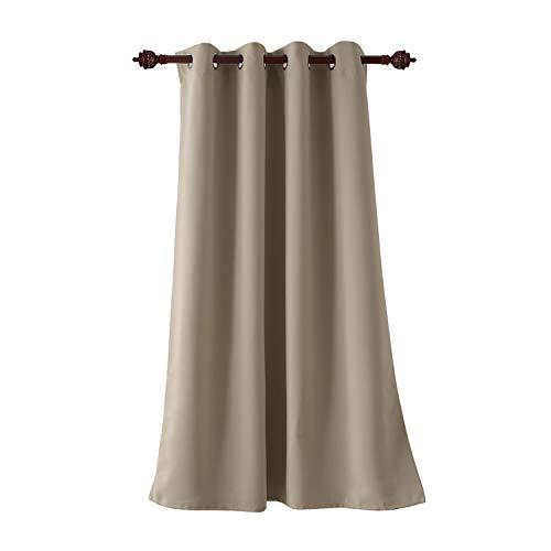 Deconovo tenda oscurante termica isolante con occhielli 100% poliestere cachi 140x180 cm un pannello