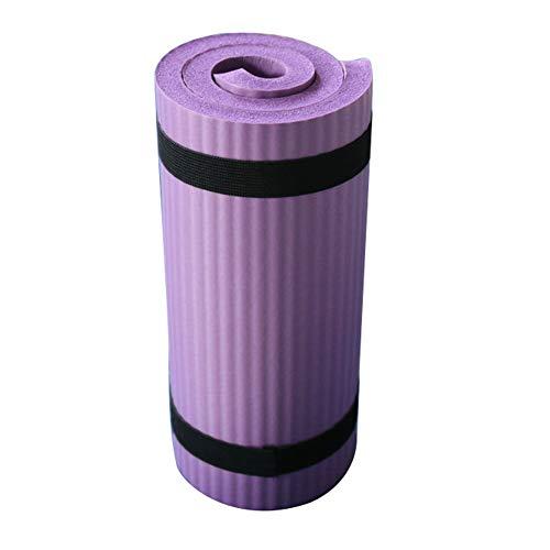 Faderr - Esterilla de Yoga Extra Gruesa de Alta Densidad, para Principiantes, Antideslizante, Suave, para Deportes, pérdida de Peso, Color Morado, tamaño Tamaño Libre, 0.02, 12.60 x 3.94 x 3.15inches