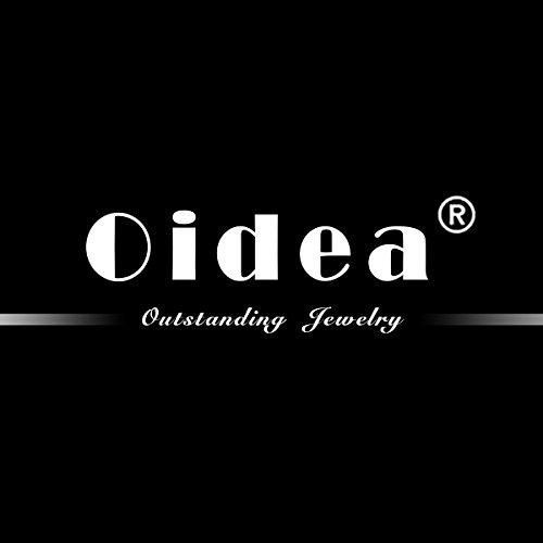 Oidea 1 Paar(2PCS) Freundschaftsketten mit Anhänger, Puzzle Love Lieben Edelstahl Partner-Anhänger mit 45cm und 55cm Kette, Halskette Halsband für Damen Herren, Schwarz
