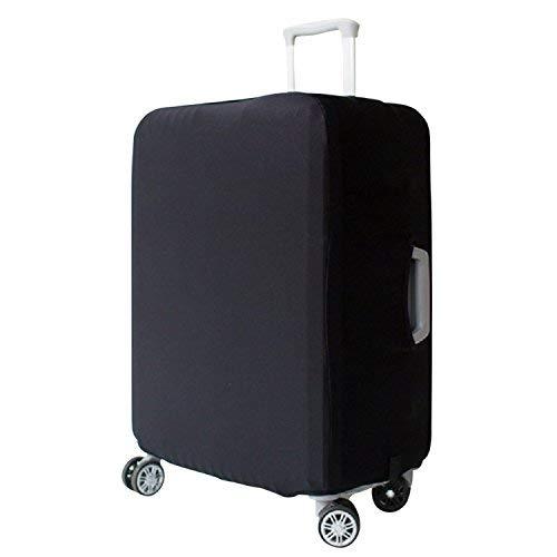 Elastisch Kofferhülle Kofferschutzhülle Abdeckung Gepäck Cover Reisekoffer Hülle Koffer Schutzhülle Luggage Cover mit Band und Klettverschluss, Schwarz ( L )