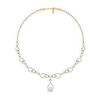 PC Jeweller The Joyceline 18KT Yellow Gold and Solitaire Necklace for Women