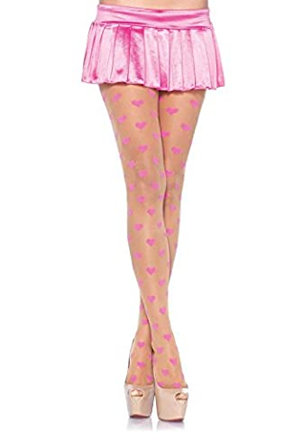 Leg Avenue Be Mine Pantyhose (Pink/ Nude)