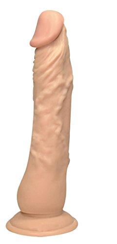 Dildo - Dieser Lover wird sie umhauen! Dieser hautfarbene Luststab füllt Sie völlig aus und reizt Sie bei jeder Bewegung mit der intensiven Äderung seines Schaftes und der prallen Eichel. Äußerst flexibel, flutscht er dabei in jeder Stellung optimal - was für ein Genuss! Sein Standfuß saugt sich an jedem glatten Untergrund fest und sorgt für noch mehr Genussvarianten. Länge 23 cm, Ø 4-4,5 cm
