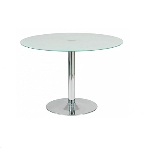designement Ricky Table Ronde Verre Blanc 110 x 110 x 75 cm