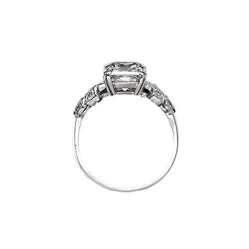 Ogquaton Modeschmuck Ringe Unregelmäßiges Quadrat Diamantringe Ring Schlüsselanhänger Hochzeit Moderner Ring Frauen Ring, 10 Beste Wahl