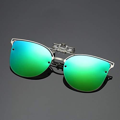 Taiyangcheng Polarisierte Sonnenbrille Frauen cat Eye nachtsicht Fahren Clip auf myopie Brille Damen luxusmarke Designer uv400,GRÜN