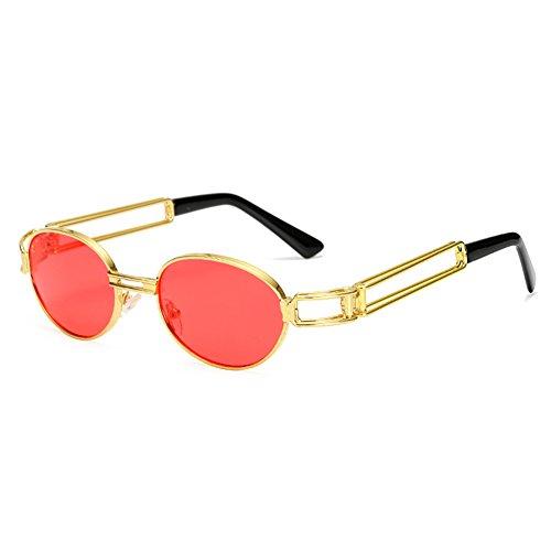 Yying Retro Kleine Runde Sonnenbrille Männer Frauen Vintage Steampunk Sonnenbrille Hip Hop Gold Brillen Eyewear UV400