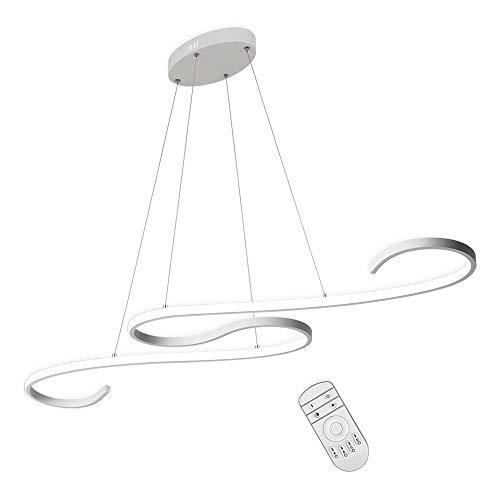 ZZ Joakoah® Modern Kronleuchter Dimmbar LED Pendelleuchte Hängelampe, Höhenverstellbar, für Esstisch Wohnzimmer Schlafzimmer Esszimmer Büroleuchte (Dimmbar mit Fernbedienung 42W, 2700K-6000K).