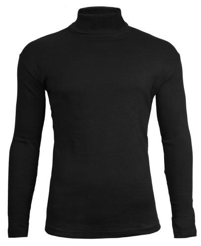 Polo-hälse (Brody & Co.Herren Langarmshirt, Einfarbig Schwarz Schwarz)