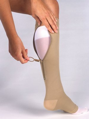 Jobst Ulcercare-liner (Jobst UlcerCare Stocking with Liners 40mmHg, L, Beige by Jobst)