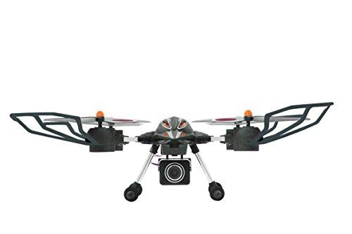 Jamara 422007 – Oberon Altitude AHP HD Kamera Quadrokopter, schwarz/rot