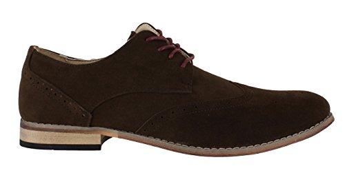 Museums and Galleries Classics Étui pour homme Imitation daim formelle Shoe Avenue Chaussures richelieu à lacets classique Marron - marron