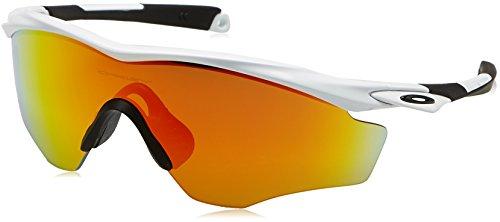 Oakley Herren Sonnenbrille M2 Frame XL Farbe des Gestells: POLISHED WHITE Linsenfarbe: FIREIRIDIUM, 40