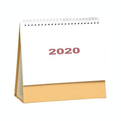 Tischkalender 2019-2020, Tischkalender Stand Up Office Tischplaner Date Notepad Teacher, Kleiner Tischkalender 2019 Bis Dez. 2020 Stehender Staffelei-Tischkalender