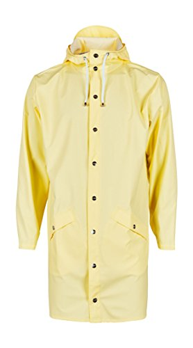 RAINS Herren Regenmantel Long Jacket Yellow Wax Yellow -ebridges.eu f68d68da4a