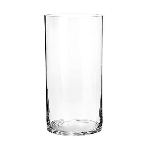 Butlers Pool zylindrische Vase - Vase aus Glas | Zylindrische Glas-Vase | Breite 15 x Tiefe 15 x Höhe 30 cm