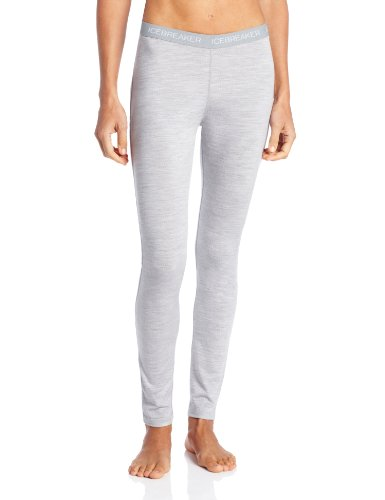 Icebreaker Damen Funktionshose Oasis Leggings, Blizzard HTHR, XL, 100521C47