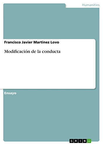 Modificación de la conducta por Francisco Javier Martinez Lovo