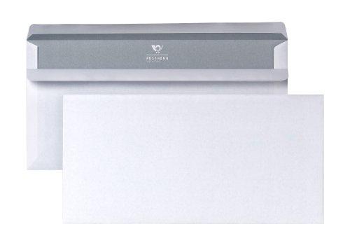 POSTHORN 01220153 Briefumschlag DIN lang (110x220 mm), 75g weiß, ohne Fenster, selbstklebend, 1000 Stück