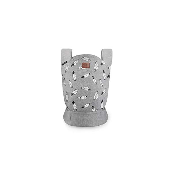 kk Kinderkraft Milo Ergonomic Baby Carrier Front Gray kk KinderKraft Ergonomic baby carrier for children aged from 3 months up to 20 kg Two baby carrying positions: on the stomach and on the back Rubber bands so that the belt ends do not hang 1