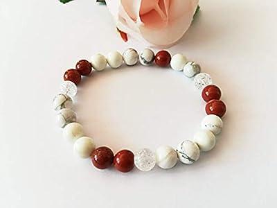 bracelet minceur, bracelet jaspe rouge, bracelet magnetite, bracelet howlite, bracelet cristal roche, bracelet pierres naturelles, cadeau noel
