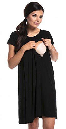 Zeta ville - prémaman camicia da parto 3in1 clinica allattamento - donna - 434c (nero, it 46/48, xl)
