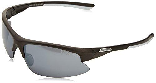 Alpina Sonnenbrille Amition DRIBS 2.0 Fahrradbrille, Fassung: Anthracite Matt/White; Gläser: Black Mirror S2